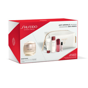 Anti-Wrinkle Program Pouch Set - Wrinkle Smoothing Cream Enriched - SHISEIDO, Nieuw
