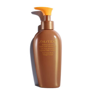 Brilliant Bronze Quick Self-Tanning Gel - Shiseido, Bruin zonder zon